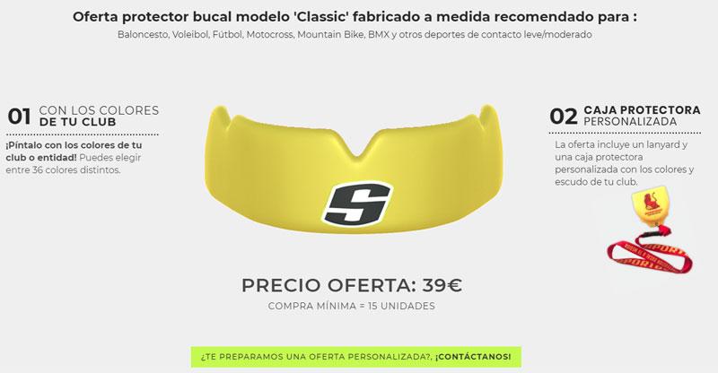 SPORTBUC classic oferta protector bucal Baloncesto Voleibol, Fútbol, Motocross, Mountain Bike, BMX…