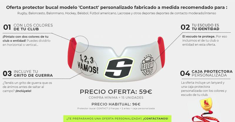 SPORTBUC contact protector bucal hecho a medida Rugby, Baloncesto, Balonmano, Hockey, Béisbol, Fútbol americano, Lacrosse